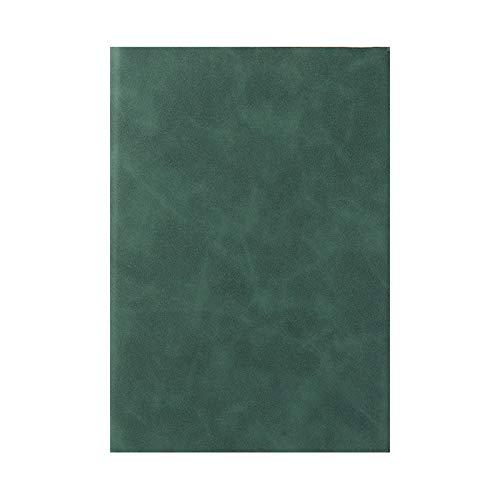 Cuaderno De Cubierta De Gamuza Suave A5, Con Marcadores De Bloqueo Bloc De Rosca Bloc De Notas, Para Registros Diarios De Reuniones De Negocios De Aprendizaje De Oficina, Verde