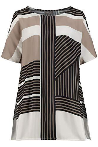 Ulla Popken Damen große Größen Tunika, Streifen-Design, Oversized, Selection Multicolor 42/44 724166 90-42+