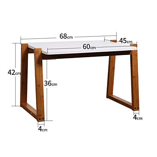 NA Couchtisch, Japanischer Kleiner Quadratischer Tisch, Kleiner Beistelltisch, Balkontisch, Schlafzimmersofakanne,Weiß,68Cm