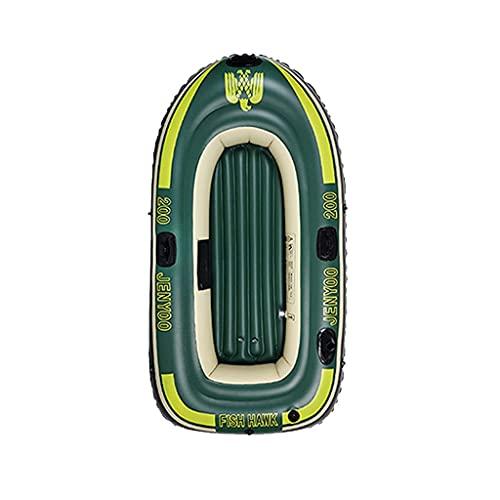 WBJLG Kayak para 2-4 Personas, Bote Inflable con Paleta de Cuerda de Bomba, Bote pontón para Adultos, Kayak de Pesca, 1 Unidad