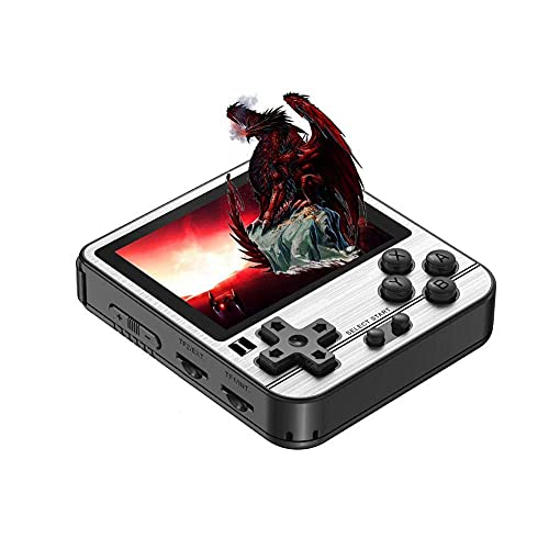 FXQIN Retro Handheld Mini Game Console with 23000 Classic Game, Rechargeable Battery, 2.8 inch IPS Screen with Music and Video Player Birthday Gift for Children Adult, 128 G