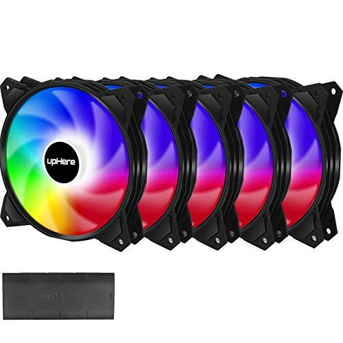 upHere Ventola da SYNC ARGB LED 120mm Case per PC,Ventola di Raffreddamento della CPU,PF1207-5
