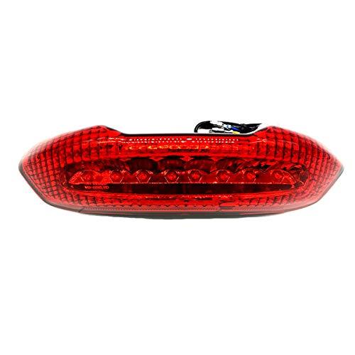 one by Camamoto cod. 77204328YR faro trasero piloto moto completa aprobada en rojo con leds para nrg power