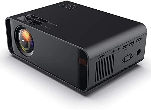 N\C ZSCC Proyector, proyector de Video Full HD, proyector LED de Cine en casa Compatible, 8000 lúmenes 1920x1080P Admite Pantalla de 200 Pulgadas 50000 Horas
