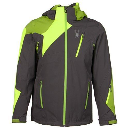 Spyder Men's Vyper Jacket, Polar/Bryte Yellow/Theory Green, Large by Spyder