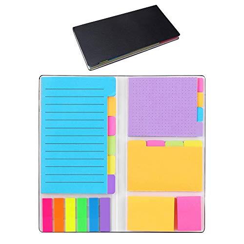 402 Fogli Foglietti Adesivi Colorati, Divide - Set di Note Adesive, Sticky Notes Brillante Colorato Mini Stickies, Rimovibili e Riposizionabili, Autoadesive, Colorate, 6 Diverse Forme