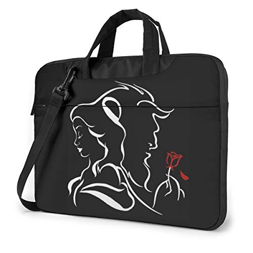 Beauty Within The Beast Laptop Shoulder Messenger Bag, 15.6 Inch Multi Functional Notebook Sleeve Carrying Case with Strap & Trolley Belt for Lenovo Acer Dell Lenovo Hp Samsung Ultrabook Chromebook