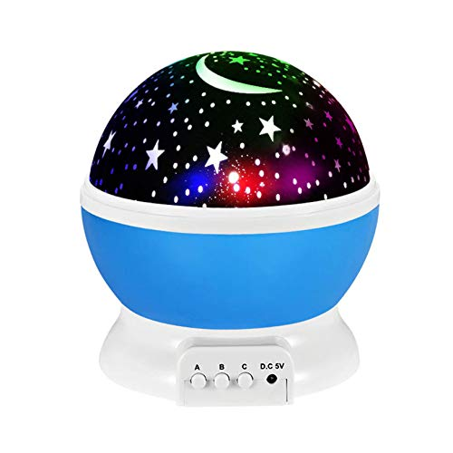 wuxafe Star Projector LED Night Light, USB Rechargeable, for Stage, Bedroom, Wedding, Christmas, Living Room, Camping, Kids
