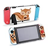 SUPNON Adorable Squirrel in Modern Flat Style Compatible with Nintendo Switch Console & Joy-Con Protective Case, Durable Flexible Shock-Absorption Anti-Scratch Drop Protection Cover Shell Design21731