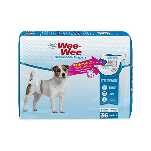 Four Paws Wee-Wee Disposable Dog Diapers 36 Count Small