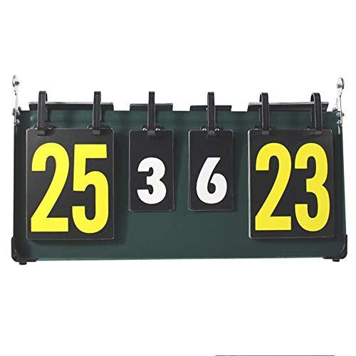 Cxraiy-SP Marcador de Puntaje Tabla de puntuación de competición Deportiva de 4 dígitos Marcador Marcador Deportivo for Tenis de Mesa Baloncesto Bádminton Verde (Color : Green, Size : 41 x 22.5cm)