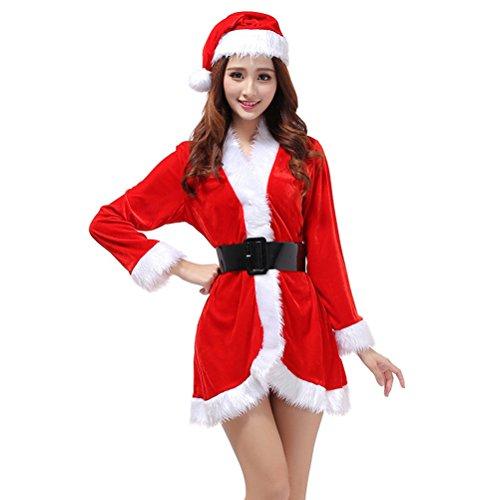 OULII Disfraz de Mamá Noel para Mujer