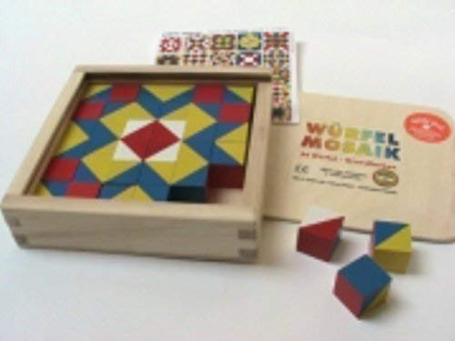 Liebe Handarbeit 46106 Würfel Mosaik, 36 Würfel in Holzkasten Grundfarben 521