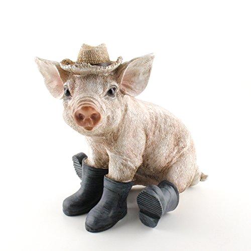 440s.de varken met hoed en laarzen, zittend, H ca. 24 cm | AM-31399 | 4056422313996