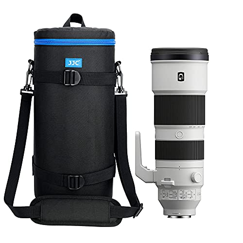 JJC Extra Large Thick Camera Lens Pouch Bag Case for Sony FE 200-600mm F5.6-6.3 G OSS Super Telephoto Zoom Lens SEL200600G Fits Reversed ALC-SH157 Lens Hood FE 1.4X 2.0X Teleconverter SEL14TC SEL20TC