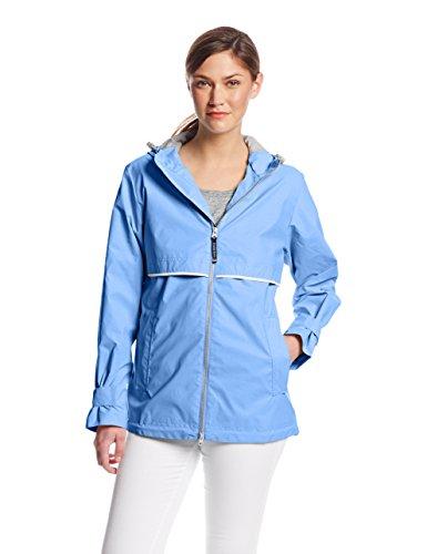 Charles River Apparel womens New Englander Wind & Waterproof Rain Jacket, Periwinkle, 3XL