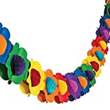 FUTUREPLUSX Paper Garland Decorations, Mexican Banner Hibiscus Garland Flower Banner Tropical Paper Flowers Luau Party Decorations