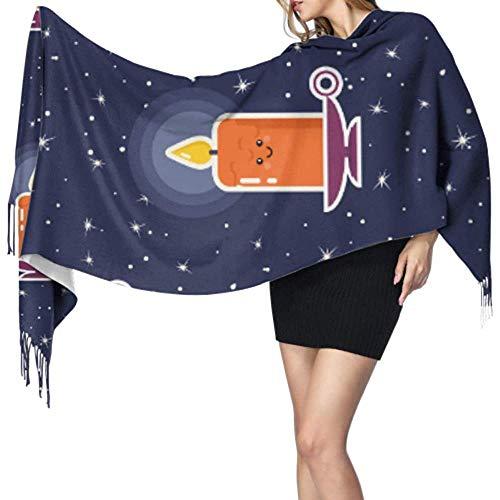 Regan Nehemiah Vrouwen sjaal lichte kaars warm vuur lief decor zachte sjaal kasjmier Franse wrap sjaal warme deken