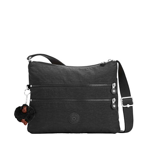 Kipling Alvar Women's Shoulder Bag, Multi-Colour, 33 x 26 x 4.5 cm Black Size: UK One Size