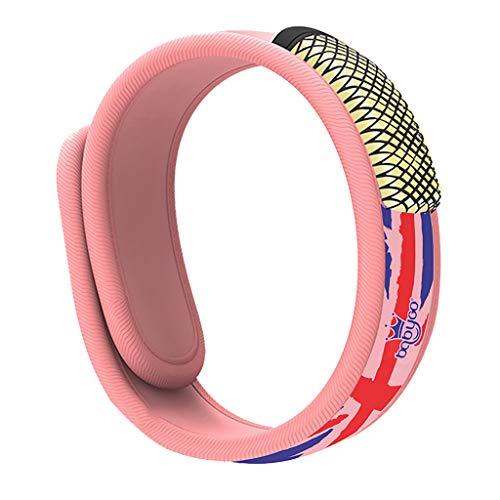 Smony – Sport & Outdoor Mückenabwehr-Armband – Natürliche Sicherheit und Komfort Insektenabwehr-Armband für Kinder, Schwangere Frauen, Mückenvernichter für drinnen und draußen, Rose