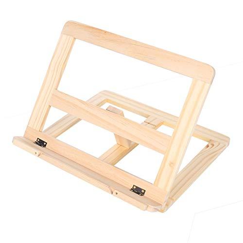 lettura stand Creative Wooden Frame Reading Bookshelf Bracket - Libro Reading Bracket Tablet PC Supporto Musica Stand Tavolo Tavolo In legno Facilita