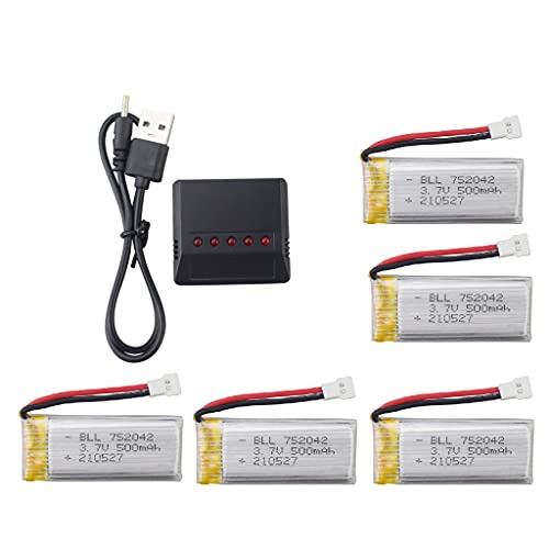 ZYGY 5x3.7V 500mAh 25C batterie e 5in1 caricatore per JJRC H31 H37 H6D Hubsan X4 FPV H107C/D/L/P H108 JXD392 JXD388 JXD385 UDI U816A SYMA X5C X5SW HS170 HS170C HS170G F180W F180C TR-C385 TR-P51 TR-F22