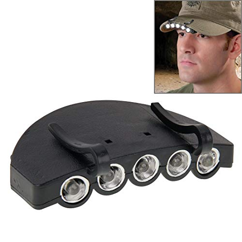 WARM home Outil Robuste Durable pêche en Plein air Camping Chasse 5 LED White Light Head Light HeadLamp Cap Ampoule de la Torche De Plein air