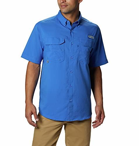 Columbia Sportswear Men's Blood and Guts III Short Sleeve Woven, Vivid Blue, X-Large