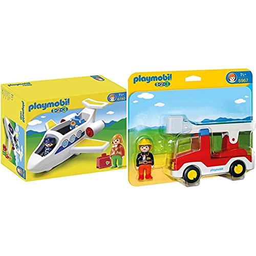 Playmobil 1.2.3 Avión (6780) + 1.2.3 1.2.3 Camión De Bombero (6967)