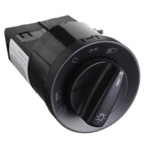 Kaakaeu Faro Luz antiniebla Interruptor Panel de Control para VW GTI Golf Jetta MK4 Passat B5 Auto Vehículo Mantenimiento Común Repuesto Accesorio Negro