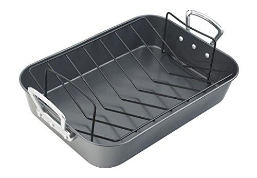 Prestige Plat à rôtir pour Le Four avec Grille Acier 38cm–Noir