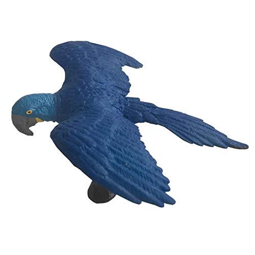D DOLITY Figurine Statue Modèle Animaux Ornement Micro Paysage Pelouse Cadeau - Ara Bleu