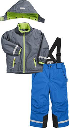 Playshoes Jungen Schnee-Jacke + Hose Set Schneeanzug, Grau (Grau 33), (Herstellergröße: 80)