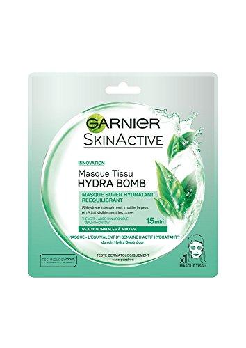 Garnier Skinactive Face S.ACT MASK H.BOMB SA32G FR/NL GREEN máscara facial 32 g - Máscaras faciales (Unisex, Piel mixta, Piel normal, Hidratante, Matificante, 5 mm, 175 mm, 130 mm)