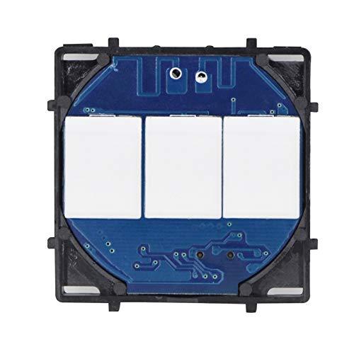 BSEED Interruptor de Luz Inteligente 3 Gang 1 Vía,Interruptor de Luz Táctil con Pantalla LED para Producto de Bricolaje