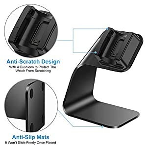 CAVN Charger Dock Compatible with Fitbit Charge 4 / Charge 4 SE (Not for Charge 3), Aluminum Charger Dock Replacement Charging Stand Station Cradle Base with USB Cable for Charge 4 Smart Watch (Black)