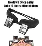 Enshey - Gafas de prisma horizontal, prisma, gafas de periscopio, para leer y ver la televisión en la cama mientras está tumbado