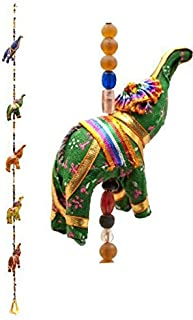 Indian Traditional Five Elephant Hanging Layer Door Hanging, Wall Hanging, Decorative Hanging Gift Box Pack