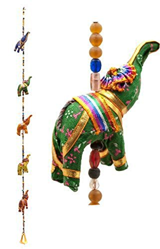 Rastogi Handicrafts Indian Fabric Hanging Elephants String Decoration