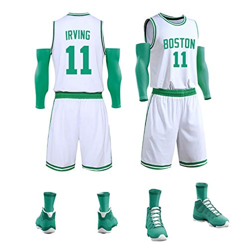 # 11 Irving, Herren Basketball Trikots Set, Basketball Uniform T-Shirt Weste Shorts Set, Top + Shorts Set A-L