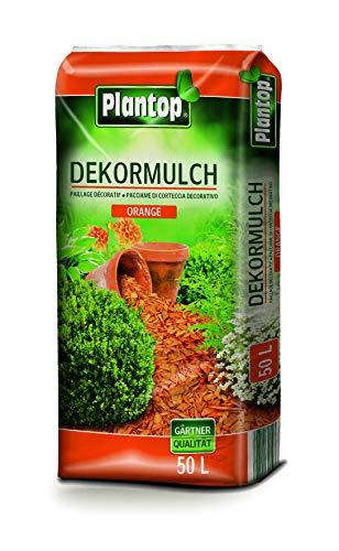 Plantop DEKOR-Mulch 50 l. Holzzschnitzel, Hackschnitzel. Dekomulch in ORANGE