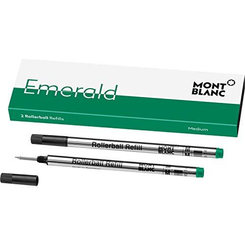 Montblanc 118127 Rollerball Refills, Verde, 2x Emerald Green, 2 Pezzi