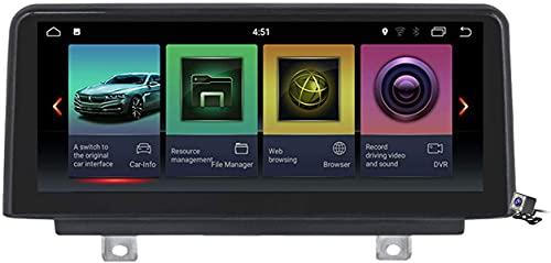 LYHY Coche de navegación GPS estéreo Qualcomm Android 10 para BMW 1/3/4 Series 2013-2017 con Pantalla incorporada de 10.25'Carplay DSP Soporte Radio Multimedia CD DVD/SWC BT