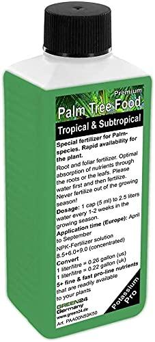 Engrais liquide pour palmiers - NPK - Engrais pour racine, sol, feuilles - Engrais professionnel pour plantes