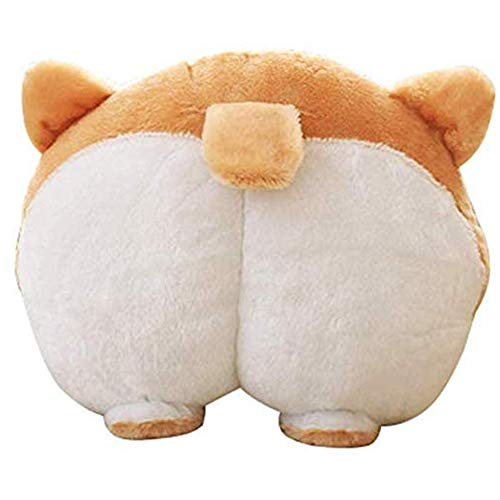 plhzh Felpa Mascotas Cachorro Lindo Corgi Butt Throw Pillow Soporte para El Cuello Almohada Cojín Almohadas De Viaje Animales Peluches Regalos.