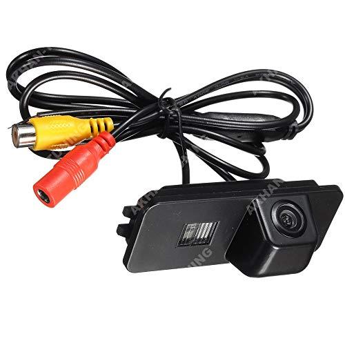 Akhan-Tuning CAM08 Caméra de recul couleur Aide au stationnement avec repères pour VW Golf 5