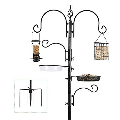 Urban Deco Bird Feeding Station Kit Bird Feeder Pole Wild Bird Feeder...