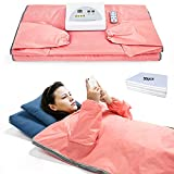 Sauna Blanket for Weight Loss and Detox - Far Infrared (FIR) Body Shaper Slimming Blanket Professional Therapy Sweat Sauna Bed Body Heating with Sleeves Remote Controller for Health Benefits, Home