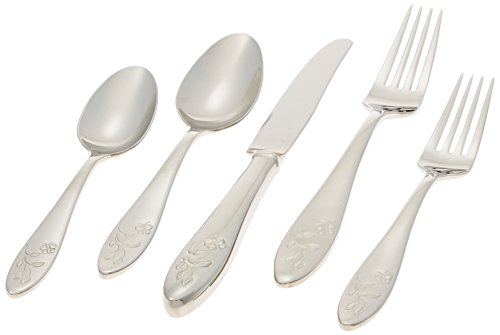 Lenox 803604 Butterfly Meadow 5-Piece Place Setting, Stainless Steel, Silver