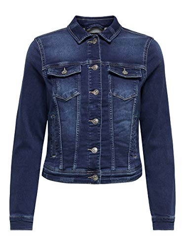 ONLY Female Jeansjacke Regular Fit 38Dark Blue Denim